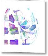 Action In Pastel Metal Print