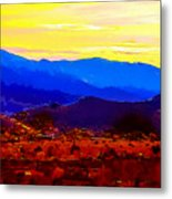 Acton California Sunset Metal Print