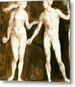 Adam And Eve 1504 Metal Print