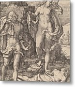 Adam And Eve Lamenting The Death Of Abel Metal Print