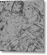 Adam Andeve The Creation Story Metal Print