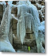 Adam Jewell At Maligne Canyon Metal Print