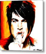 Adam Lambert Metal Print by Lin Petershagen