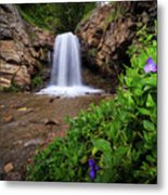 Adams Canyon Lower Falls Spring Metal Print