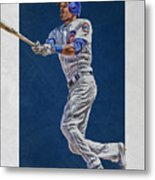 Addison Russell Chicago Cubs Art Metal Print