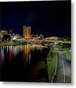 Adelaide Riverbank At Night Iv Metal Print