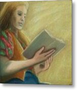 Adele Reading Metal Print