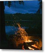 Adirondack Campfire Metal Print