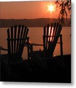 Adirondack Chairs-1 Metal Print