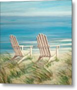 Adirondack Chairs Metal Print