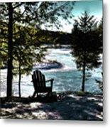 Adirondack Silhouette Metal Print