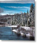 Adirondack Snowfall Metal Print