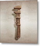 Adjustable Wrench Left Face Metal Print