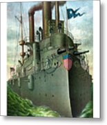 Admiral Dewey's Flagship Olympia  Metal Print by War Is Hell Store