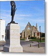 Admiral Lord Nelson And Royal Garrison Church Metal Print
