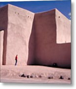 Adobe Church In Taos Metal Print