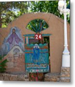 Adobe Wall Chimayo  Metal Print