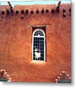 Adobe Wall With Window Metal Print