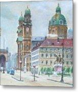 Adolf Hitler Painting Ordensplatzcu Metal Print