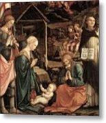 Adoration Of The Child With Saints 1460 65 Fra Filippo Lippi Metal Print