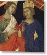 Adoration Of The Magi Fragment 1311 Metal Print