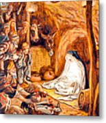 Adoration Of The Shepherds Nativity Metal Print