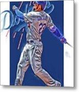 Adrian Gonzalez Los Angeles Dodgers Oil Art Metal Print