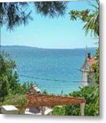 Adriatic Coast Sea View Metal Print