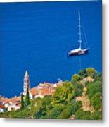 Adriatic Town Of Vis Sailing Destination Waterfront Metal Print