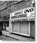 adult dvd store and sex shop Northern quarter Manchester uk Metal Print