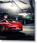 Adv1 Red Porsche 2 Metal Print