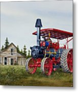 Advance Rumely Steam Traction Engine Metal Print