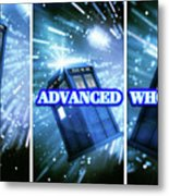 Advanced Whovians Alt Metal Print