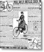 Advertisement, 1891 Metal Print