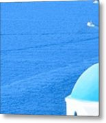 Aegean Blue Metal Print