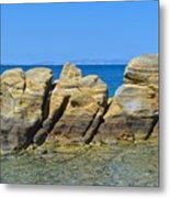 Aegean Rocks Metal Print