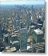 Aerial Abstract Toronto Metal Print
