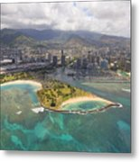 Aerial Of Magic Island Metal Print