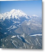 Aerial Of Mount Mckinley Metal Print