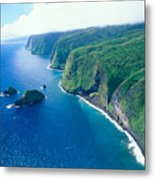 Aerial Of North Shore Metal Print