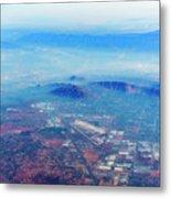 Aerial Usa. Los Angeles, California Metal Print