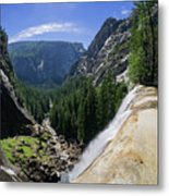 Aerial View From The Top Of The Upper Yosemite Fall Metal Print