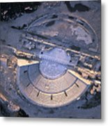 Aerial View Of Ancient Roman Theater Metal Print