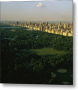 Aerial View Of Central Park, An Oasis Metal Print