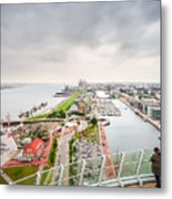 Aerial View Of Famous Havenwelten In Bremerhaven Metal Print
