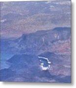 Aerial View Of Hoover Dam Metal Print