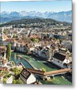 Aerial View Of Lucerne In Switzerland.  Metal Print
