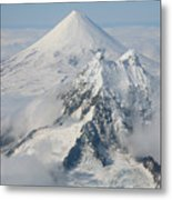 Aerial View Of Shishaldin Volcano Metal Print by Richard Roscoe