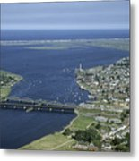 Aerial View Of The Mouth Of Merrimack Metal Print