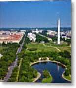 Aerial View Of The National Mall And Washington Monument Metal Print